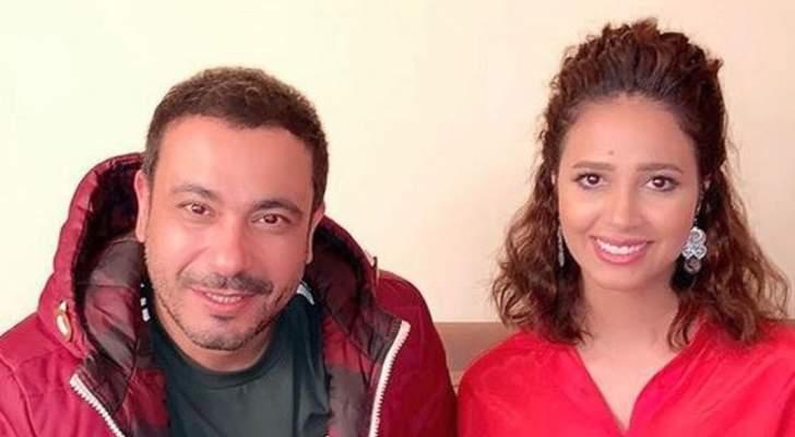 """رنا سماحة مع محمد نجاتي في كواليس """"كتف قانوني"""".. بالصور"""