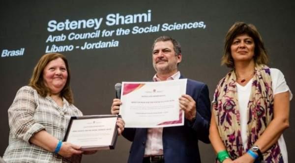 """المجلس العربي للعلوم الإجتماعية يشارك في مؤتمر ومنتدى """" CLACSO"""" في الأرجنتين ويتلقى تكريمه"""