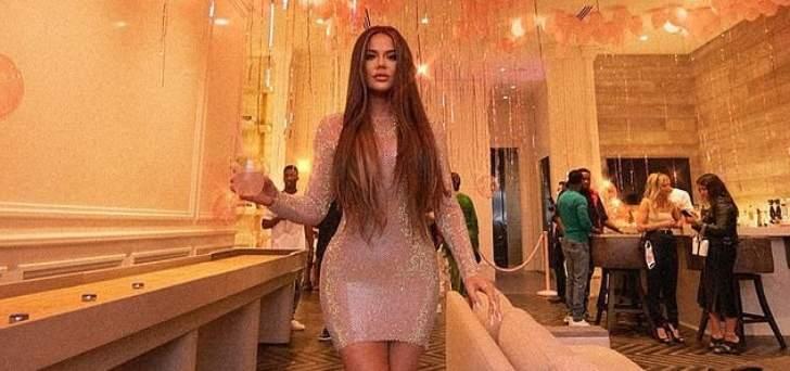 كلوي كارداشيان في لقطات جديدة من عيدها بفستان يوسف الجسمي