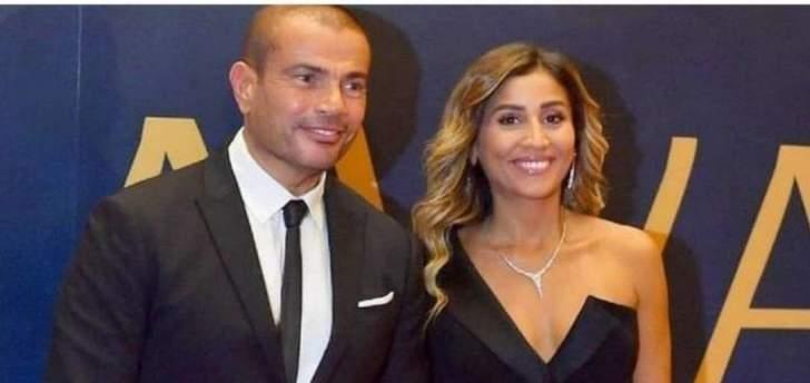 عمرو دياب ودينا الشربيني: مفاجأة وأول إطلالة رسمية وقبلة خطفت الأنظار ودعم متبادل