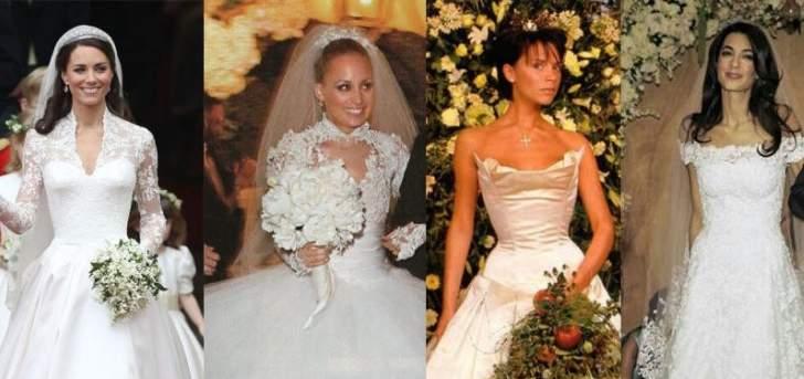فيكتوريا بيكهام وجيسيكا بيل وكيم كارداشيان وغيرهن اخترن أغلى فساتين الأعراس ليومهن السعيد