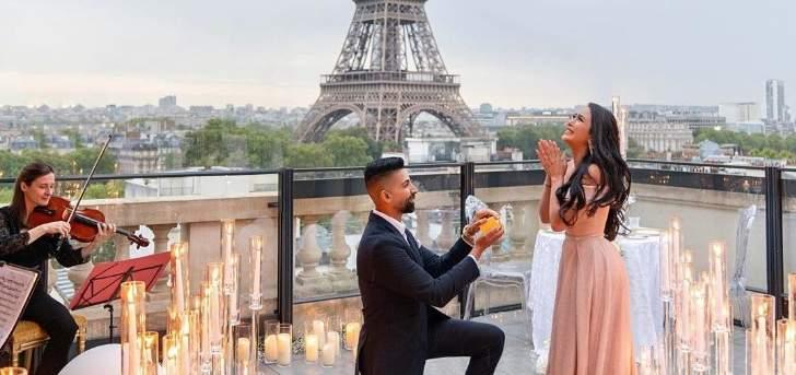 عرض زواج دام أسبوعاً من لوس أنجلوس وصولا الى باريس! بالفيديو والصور
