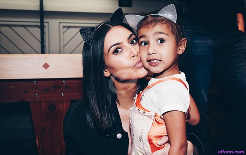 إبنة كيم كارداشيان صاحبة الخمس سنوات لديها حبيب.. وهكذا يدللها! بالصور