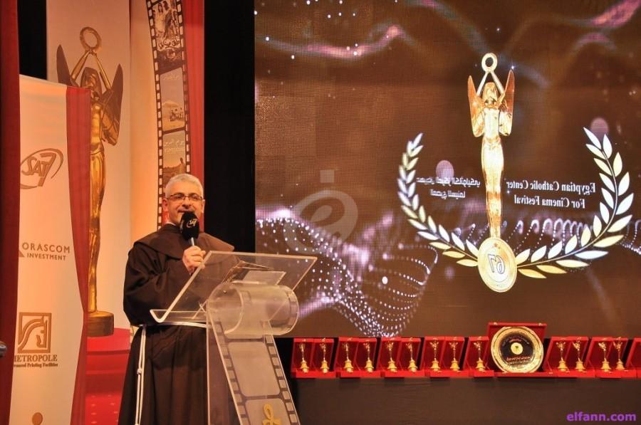 خاص بالصور- تكريم فاروق الفيشاوي وإلهام شاهين وإيمان وغيرهم في مهرجان المركز الكاثوليكي