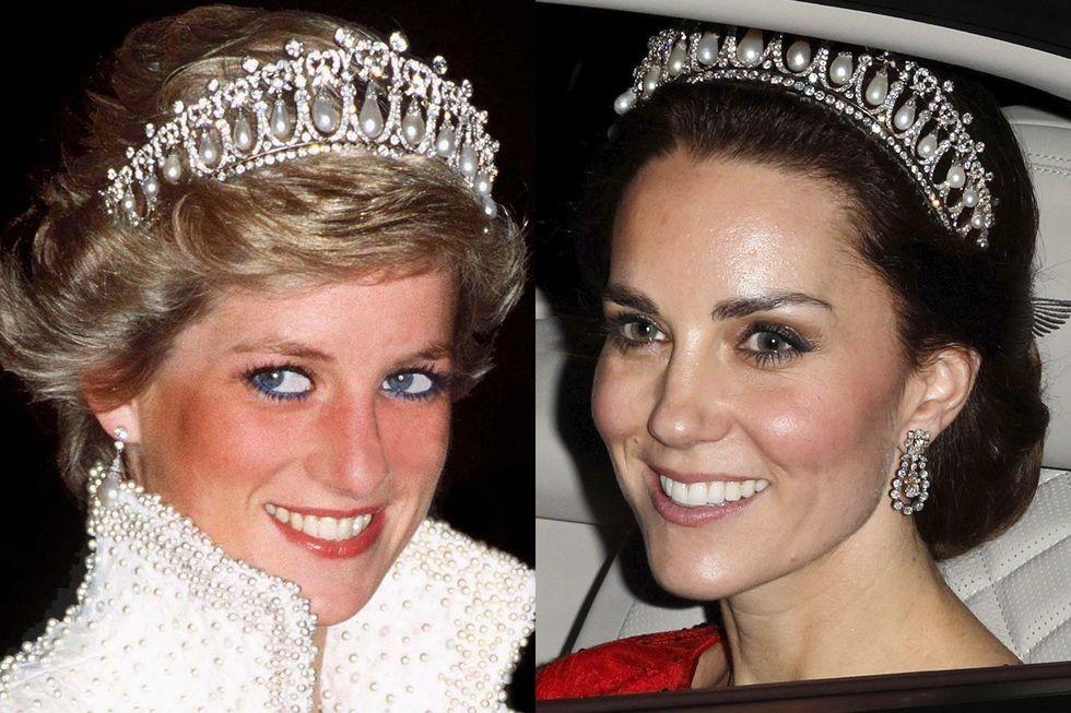 51 صورة تثبت أن كيت ميدلتون تقلّد ستايل الأميرة ديانا