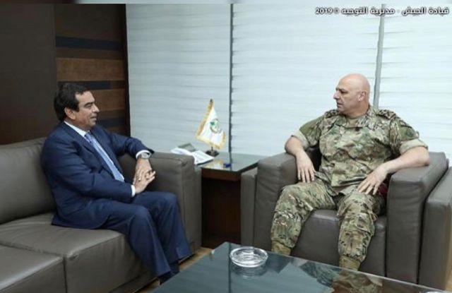 جورج قرداحي يلتقي قائد الجيش..فما السبب؟