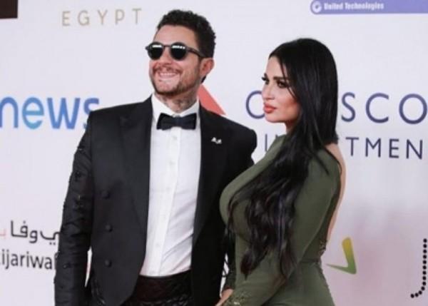 الظهور الاول لـ أحمد الفيشاوي وزوجته بعد شائعة إنفصالهما-بالصور