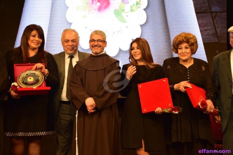 خاص بالصور- تكريم سميرة سعيد وهالة صدقي ورموز الفن في يوم العطاء بالمركز الكاثوليكي
