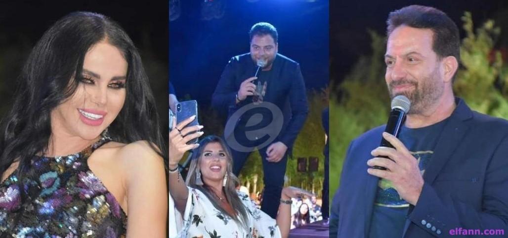 خاص بالصور- عرس فني في الجنوب يجمع ليال عبود ومحمد إسكندر وعامر زيان