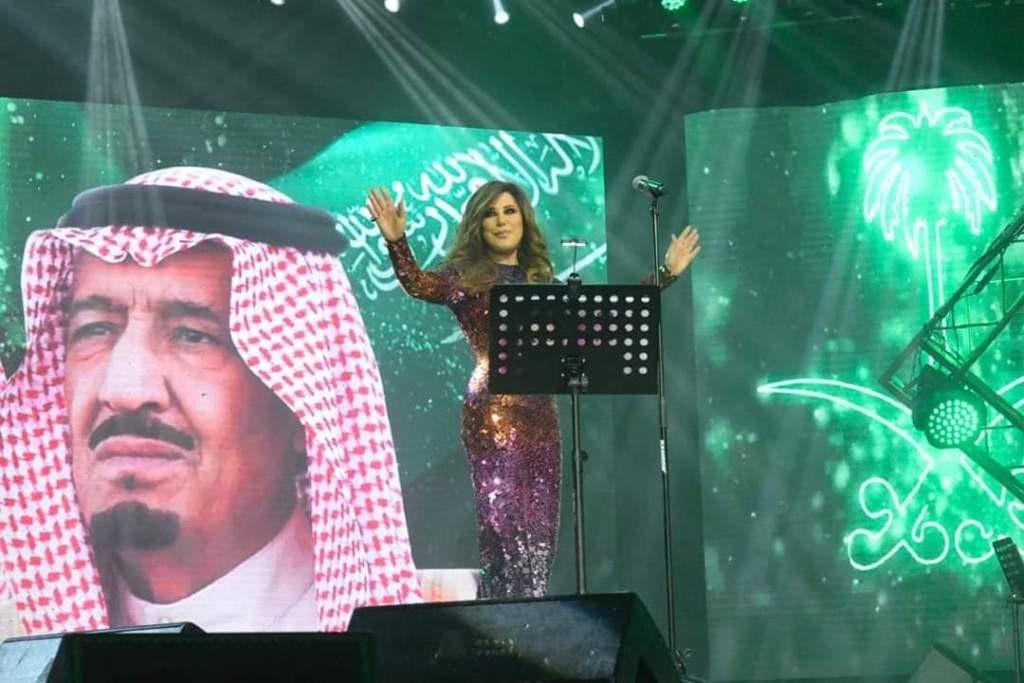 """نجوى كرم تهدي السعودية أغنية خاصة: """"الله ياخد بيدّك يا سعودية""""- بالفيديو"""