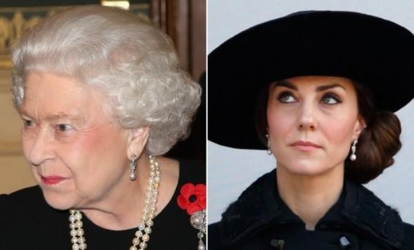 كيت ميدلتون تحصل على أعلى رتبة تمنحها الملكة إليزابيث شخصياً