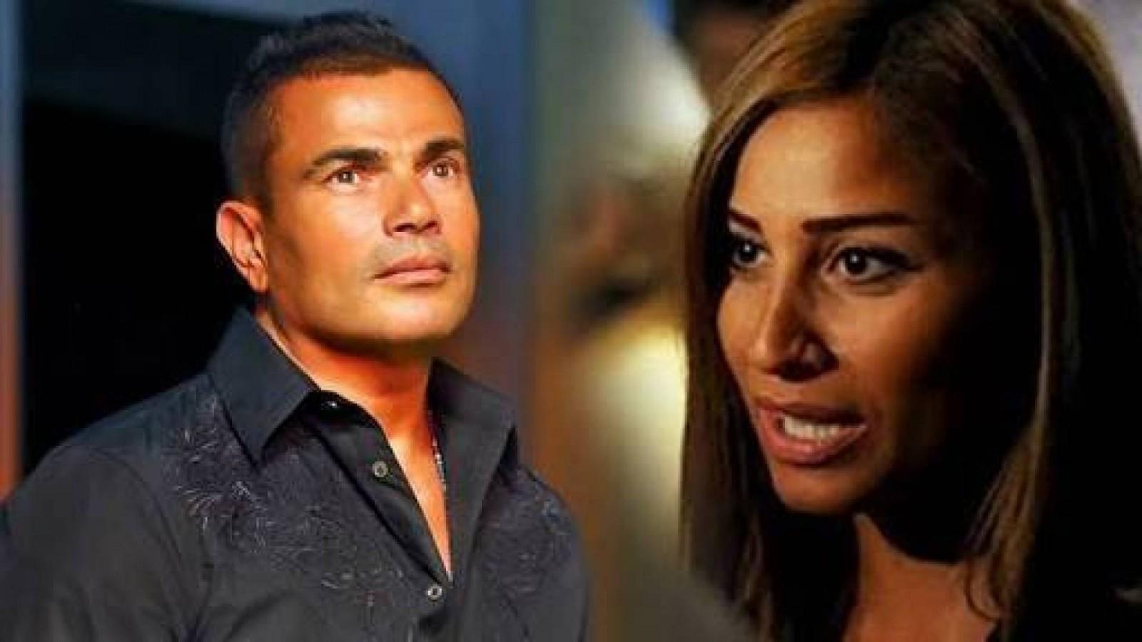عمرو دياب يعلّق على خيانة دينا الشربيني