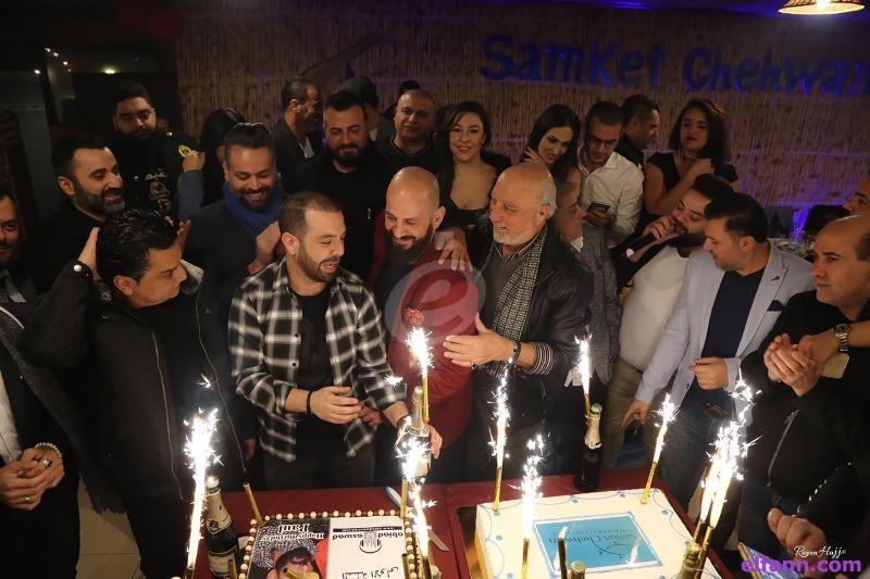 خاص بالصور- بول أبو حيدر يحتفل بعيد ميلاده وسط عدد من الفنانين والزملاء