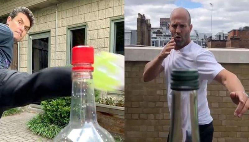 هكذا إنطلق تحدي غطاء الزجاجة ..شاهدوا مشاهير ينفذونه