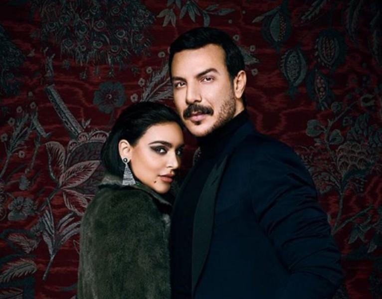 باسل خياط وزوجته بإطلالة رومنسية .. والمعجبات يعترضن