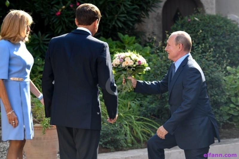 بعد إيلامها أمام بوتين ..شاهدوا ردة فعل زوجة ماكرون-بالفيديو