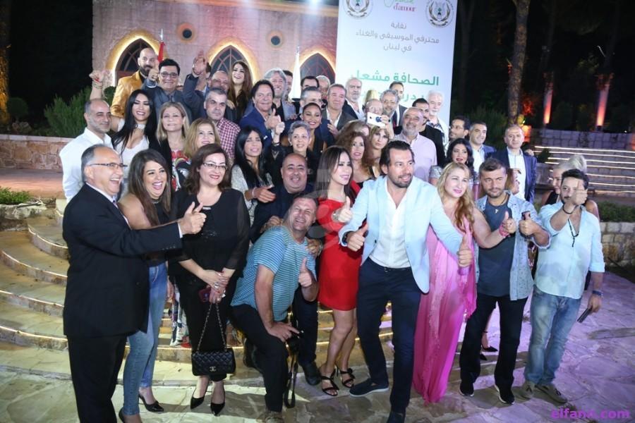 فريد أبو سعيد يكرم أهل الصحافة والإعلام وجمال فياض ينتقد الفنانين الغائبين عن الحفل