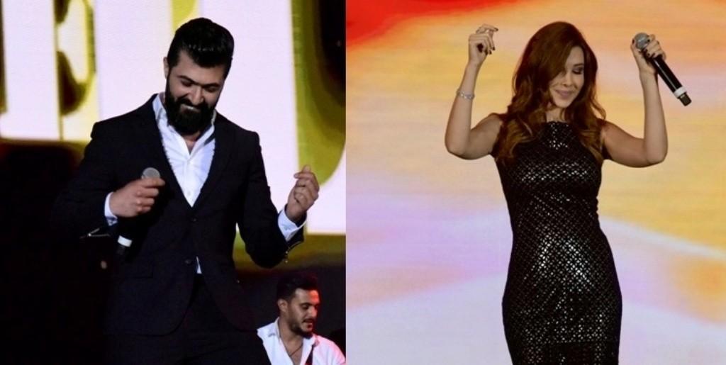 نانسي عجرم وسيف نبيل يشعلان ليل دبي بحضور جمهور كبير..بالصور