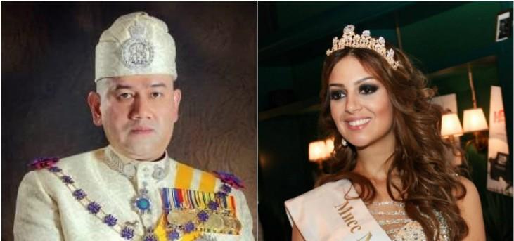 ملك ماليزيا يرزق بطفله الأول من زوجته ملكة الجمال الروسية-بالصورة