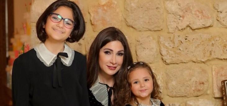 شاهد ديما صادق ورابعة الزيات مع بناتهما